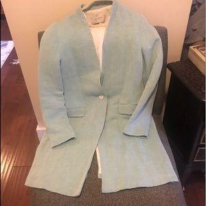 Zara lined Linen 3/4 Coat